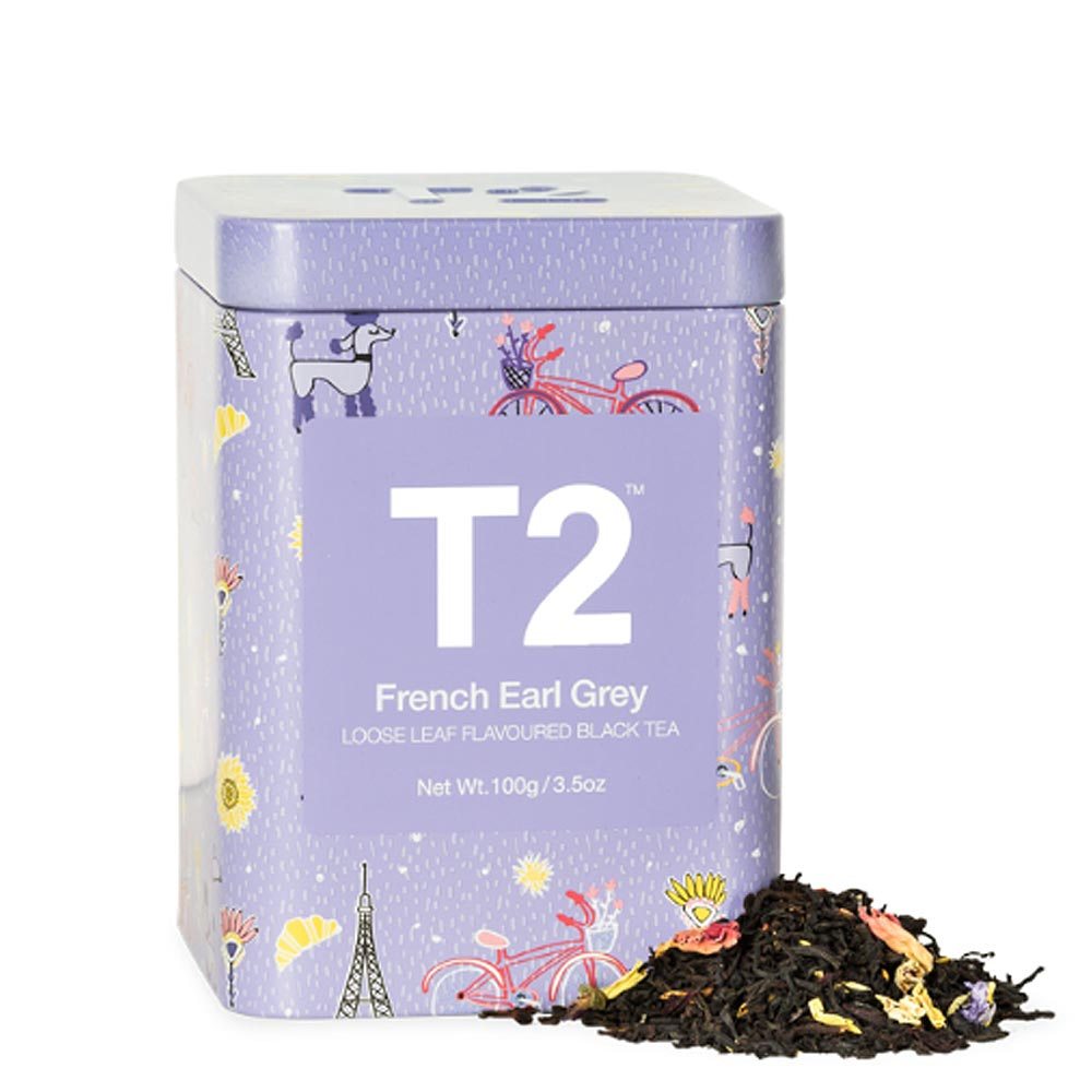 T2 프렌치 얼그레이 캔 100gFrench Earl Grey 100g Icon Tin 2019